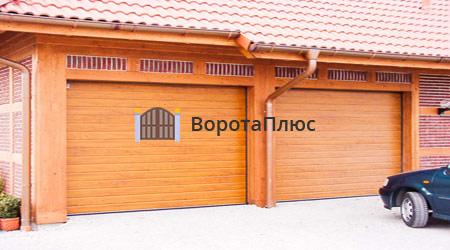 Гаражные ворота с покраской