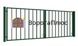 Распашные ворота из решетки